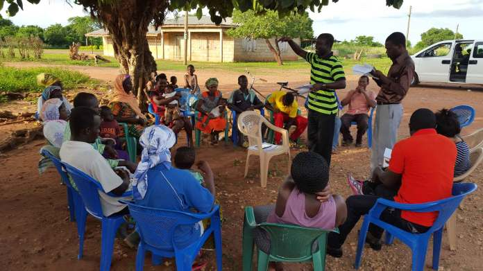 A village savings group in the Ashanti region of central Ghana. Photo by Sukhwinder Arora of Oxford Policy Management.