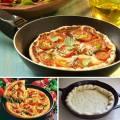 Pizza de frigideira com massa de liquidificador