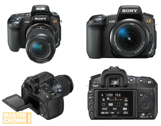 PMA08: Sony Alpha DSLR-A300 and DLSR A350 Announced