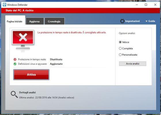 Come Disattivare Windows Defender su Windows 10