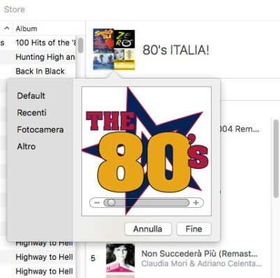 Posizionare Copertina Apple Music