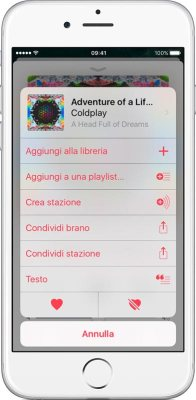 aggiungere musica a apple music