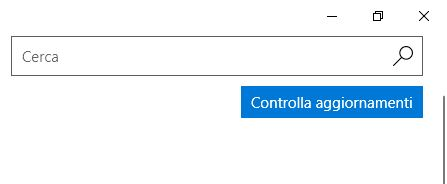 Controllo Aggiornamenti Windows 10