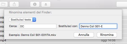Rinomina File Mac
