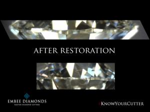 Diamond re-cut, repair & re-polish service.