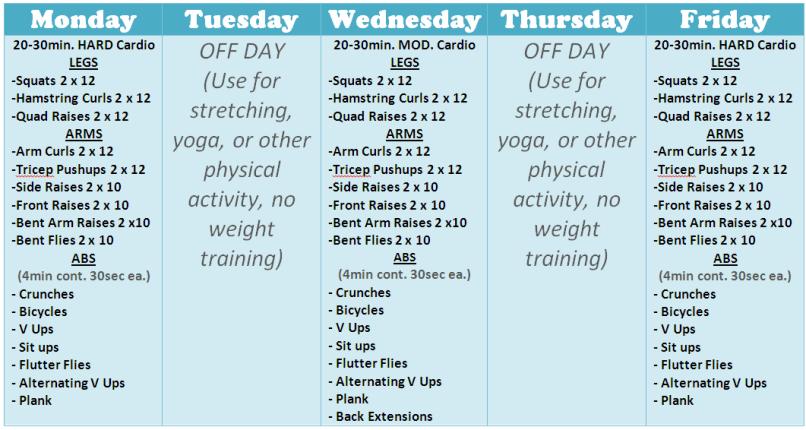 Weekly Workout Program Lose Joey Garcia