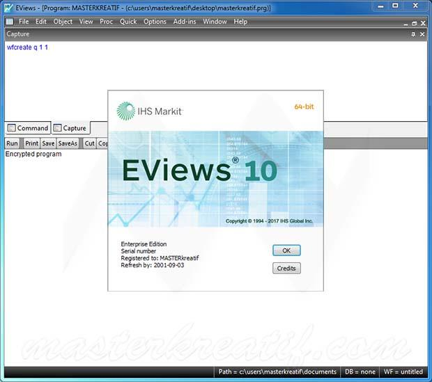 EViews 10 Enterprise Edition Full Crack Free Download