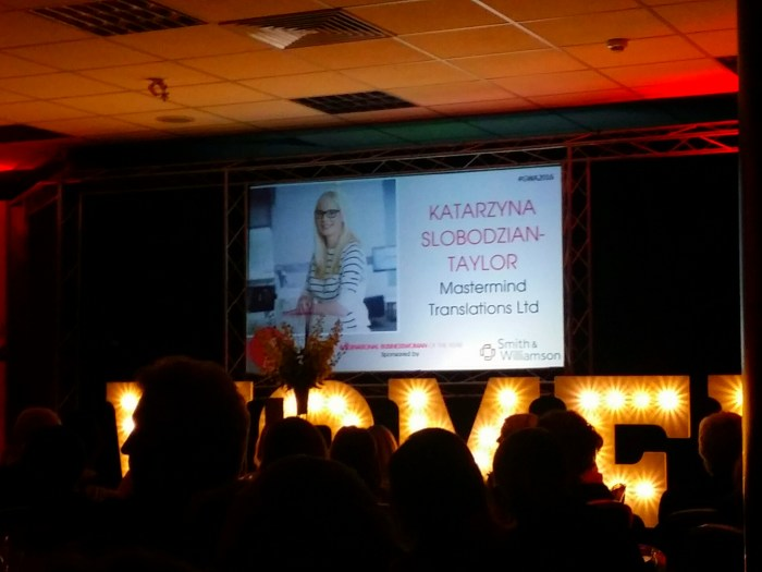 Katarzyna Slobodzian Taylor Gloucestershire International Businesswoman of the Year 2016
