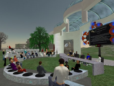 A conference in a virtual world