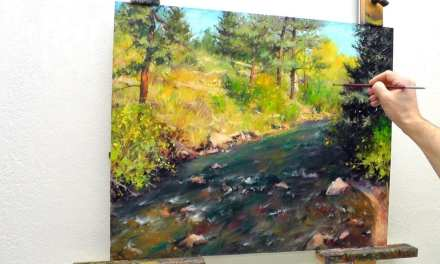 How to Paint an Estes Park River and Trees in 9 Steps