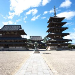 Horyuji temple. Nara World Heritage Site.