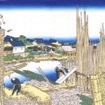 Artwork of Katsushika Hokusai, 'Honjo-tatekawa'