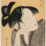 """Anthology of Poems: The Love Section"" ukiyo-e art prints by Kitagawa Utamaro"