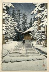 Konjikido in Snow Hiraizumi(1957, last work)