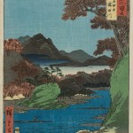 """Famous Views of the Sixty-odd Provinces"" ukiyo-e art prints by Utagawa Hiroshige"