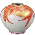Phoenix pattern pottery from Japan