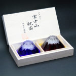 Japanese Tajima Mt. Fuji Edo Glass cups