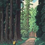 The Road to Nikko by Kawase Hasui