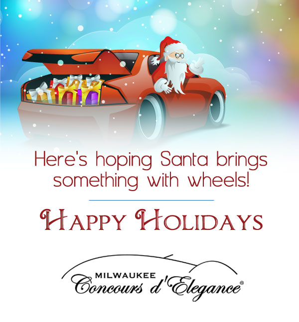 Happy Holidays 2017 | Milwaukee Concours d'Elegance