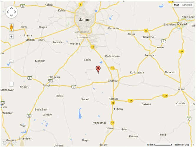 Dev Vihar Location Map