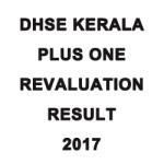 DHSE Kerala Plus One Revaluation Result 2017