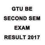 GTU BE Second Semester Exam Result 2017