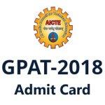 GPAT Hall Ticket 2018