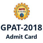 GPAT Hall Ticket 2018