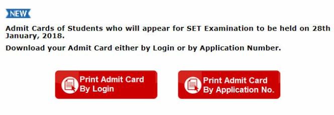 MH SET Exam 2018 Admit Card