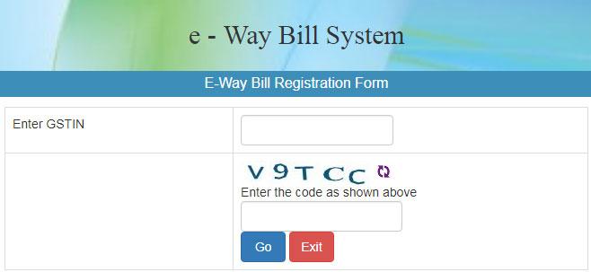 E-Way Bill Registration for New User