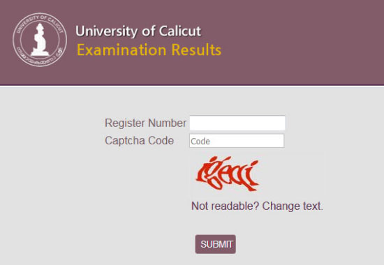 Calicut University Results 2018 BSc 4th Sem