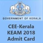 CEE Kerala KEAM Admit Card 2018