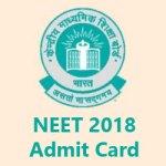 NEET 2018 Admit Card Download