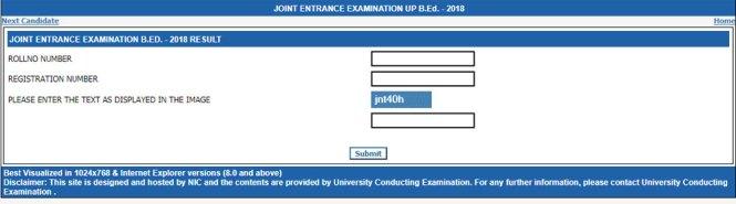 UP JEE B.ed Result 2018