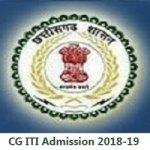 CG ITI Admission 2018