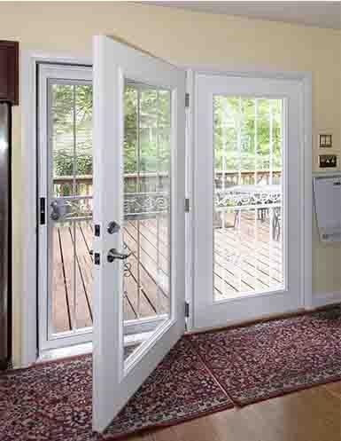 centered hinge patio doors door