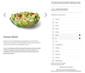 Dutch McDonald's website