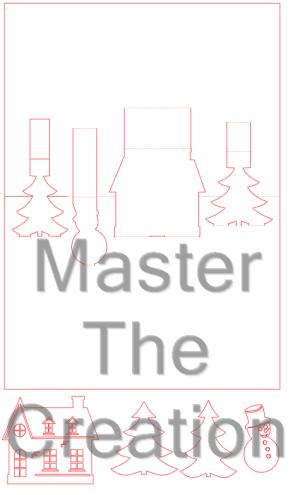 Kerst pop up kaart – FCM – CWPRJ – SVG – Studio