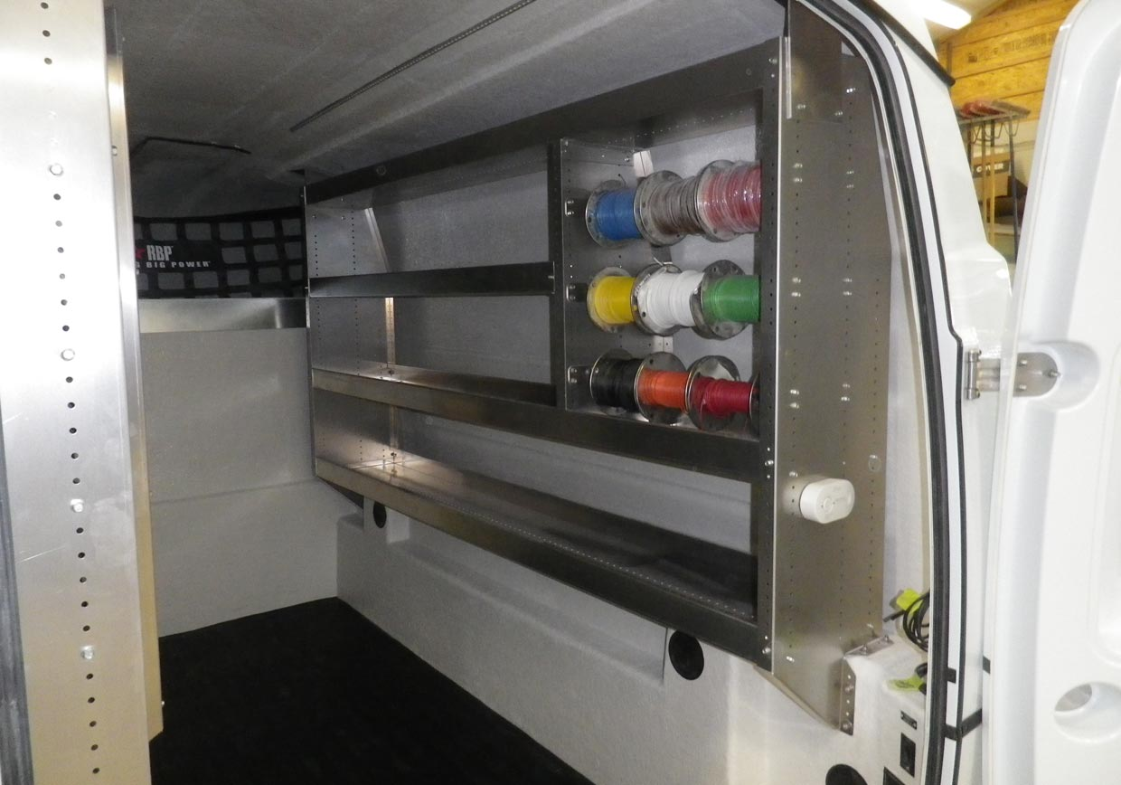 Electrician Inserts Truck Service Body Insert In Your