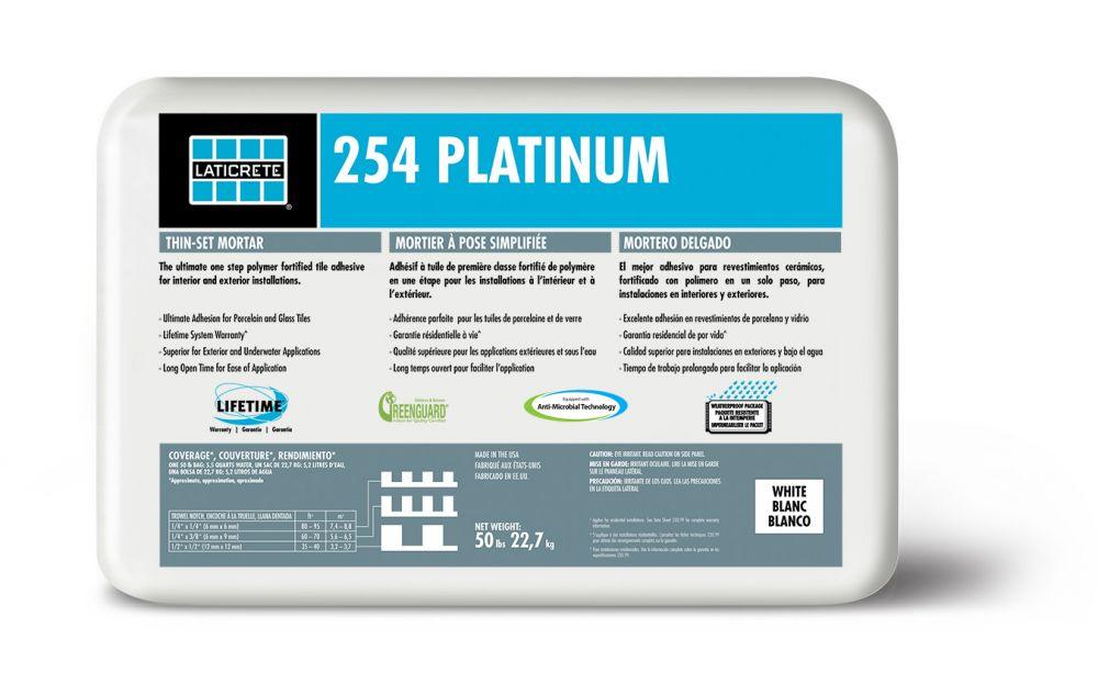 laticrete 254 platinum thin set mortar