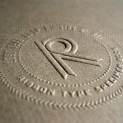 MASTROINCHIOSTRO tipografia studio grafico embossing debossing