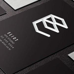 MASTROiNCHIOSTRO business cards hotfoil print black paper, white print