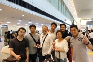 成田空港までご一緒したメンバー