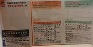 豊中市 市民検診 健診受診票
