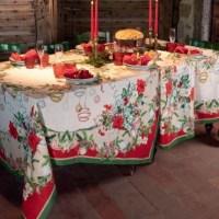 Tovaglia Natale Christmas Exspress di Tessitura Toscana Telerie