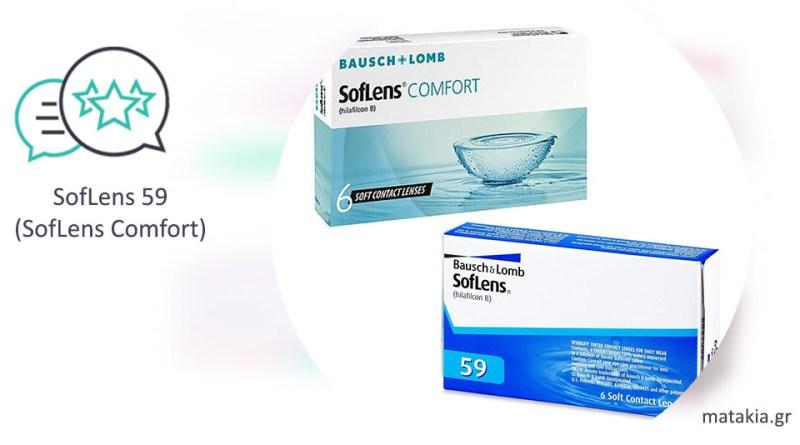 Φακοί επαφής SofLens 59 (SofLens Comfort)