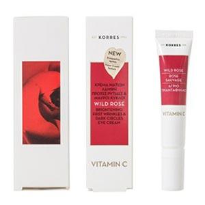 Κατά των ρυτιδών των ματιών μετά τα 40 κρέμα Korres – Wild Rose Eye Cream Vitamin C