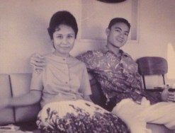 Mom and Dad while courting in the Philippines