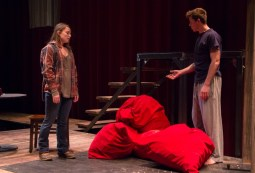 "Red bags represented love in ""Getting it Back"", directed by Marlyn Scott ('16)"