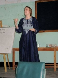 Sisisky at teacher workshop in Bangladesh.Courtesy of Clare Sisisky.